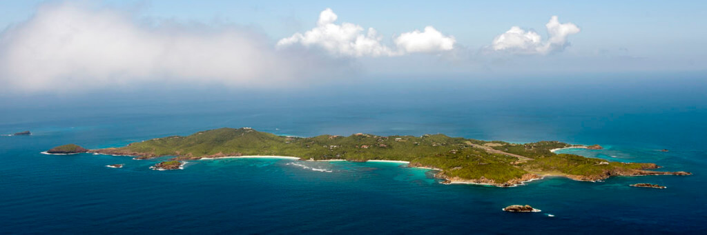 View of Mustique Island